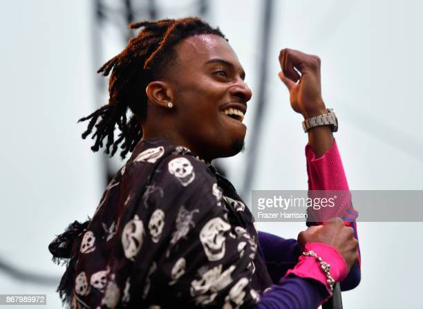 Playboi Carti performs on the Flog Stage during day 2 of Camp Flog Gnaw Carnival 2017 at Exposition Park on October 29 2017 in Los Angeles California