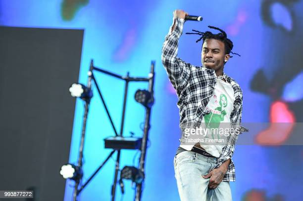 Playboi Carti performs on the Main Stage on Day 3 of Wireless Festival 2018 at Finsbury Park on July 8 2018 in London England