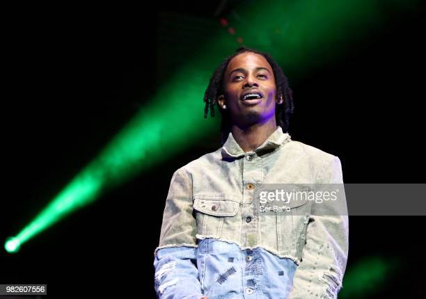 Playboi Carti performs onstage at the STAPLES Center Concert Sponsored by SPRITE during the 2018 BET Experience on June 23, 2018 in Los Angeles,...