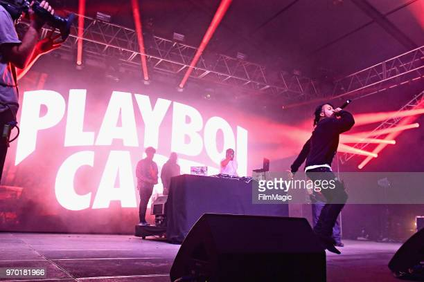 Playboi Carti performs onstage at This Tent during day 2 of the 2018 Bonnaroo Arts And Music Festival on June 8, 2018 in Manchester, Tennessee.