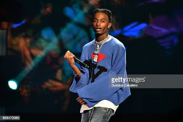 Playboi Carti performs onstage during the BET Hip Hop Awards 2017 at The Fillmore Miami Beach at the Jackie Gleason Theater on October 6 2017 in...