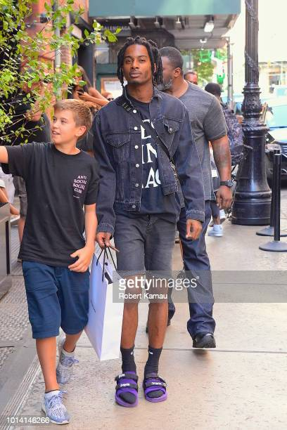 Playboi Carti seen out shopping in SoHo on August 9, 2018 in New York City.