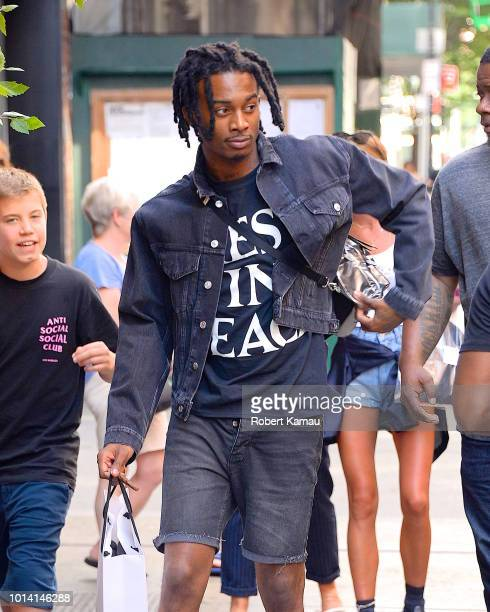 Playboi Carti seen out shopping in SoHo on August 9 2018 in New York City