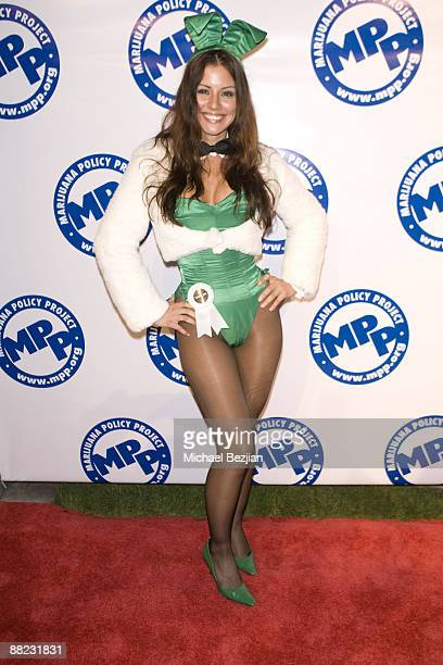 Playboy Bunny Penelope Jimenez attends The Marijuana Policy Project's Fourth Annual Party at the Playboy Mansion on June 4th 2009 in Los Angeles...