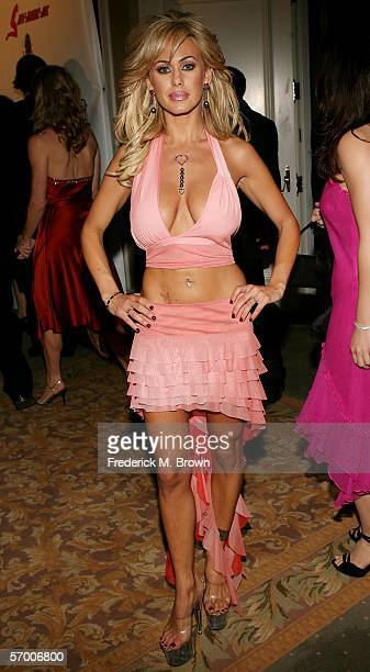 Playboy bunny Shauna Sand arrives at the Norby Walters' 16th Annual Night Of 100 Stars Oscar Gala held at the Beverly Hills Hotel on March 5 2006 in...