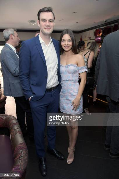 Playboy Chief Creative Officer Cooper Hefner and Scarlett Byrne attend Playboy's 2018 Playmate of the Year Celebration at Beauty Essex on May 4 2018...