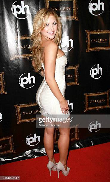 Playboy Cover model Brittney Palmer hosts an evening at Gallery Nightclub at Planet Hollywood on March 3 2012 in Las Vegas Nevada