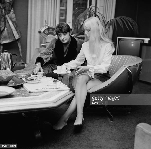 Playboy executive chief Victor Lownes and actress and Playboy model and actress Connie Kreski London UK 28th June 1968