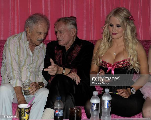 Playboy founder Hugh Hefner and Anna Sophia Berglund attend the Karma Foundation's 6th Annual Kandyland Event at The Playboy Mansion on June 25 2011...