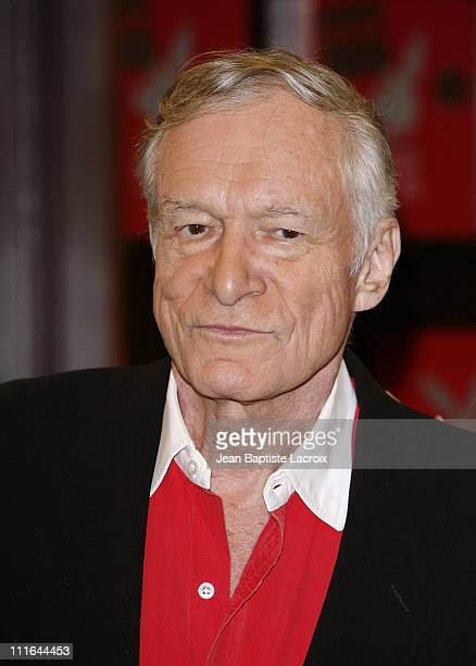 Playboy magazine founder Hugh Hefner attends a signing of 'Playboy Cover to Cover: The 50s' at Barnes & Noble Booksellers at The Grove on November...