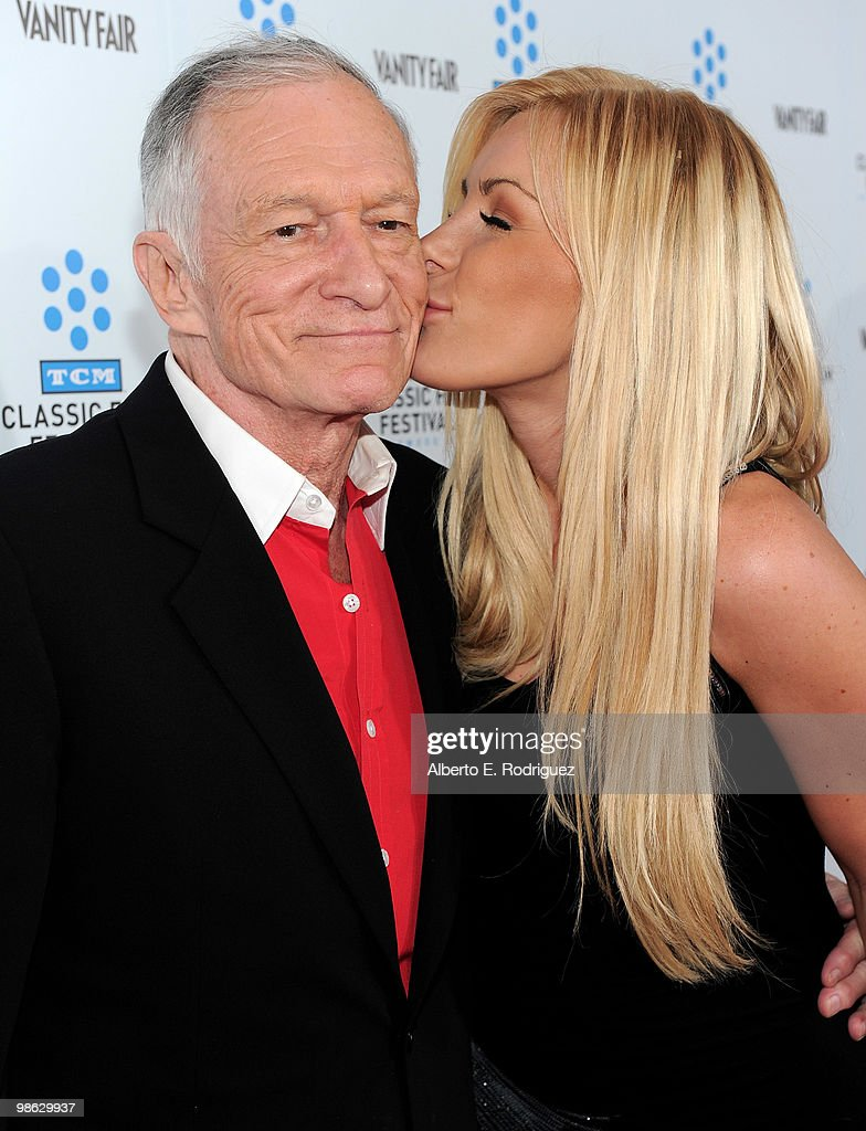 Playboy Magazine owner Hugh Hefner and Crystal Harris arrives at the TCM Classic Film Festival's gala opening night world premiere of the newly restored film 'A Star Is Born' at Grauman's Chinese Theatre on April 22, 2010 in Hollywood, California.