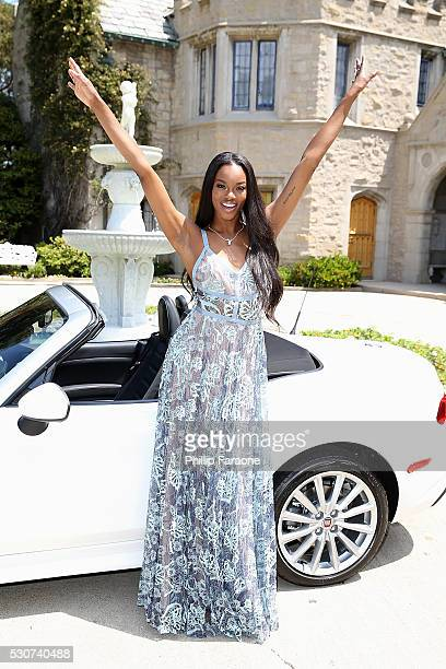 Playboy Magazine reveals Eugena Washington as the 2016 Playmate of the Year at The Playboy Mansion on May 11 2016 in Holmby Hills California