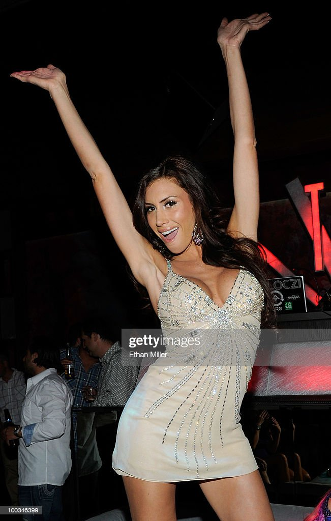 Playboy Playmate Danielle Fornarelli arrives to host an