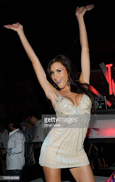 ACCESS*** Playboy model Danielle Fornarelli appears at the Tabu Ultra Lounge at the MGM Grand Hotel/Casino May 22 2010 in Las Vegas Nevada