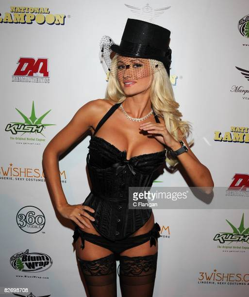 Playboy Model Holly Madison of 'The Girls Next Door' attends National Lampoon's A Night of Fantasy with The Girls Next Door Ludacris at The Playboy...