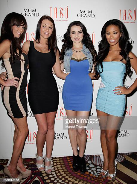 Playboy Playboy Playmates [LR] Valerie Mason Rainy Day Kelley Thompson and Leola Bell host St Patrick's Day party at the Tabu Ultra Lounge at the MGM...