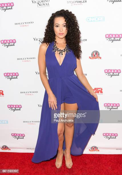 Playboy Playmate / Actress Ashley Doris attends the 3rd annual Babes In Toyland pet edition at Boulevard3 on March 30 2017 in Hollywood California