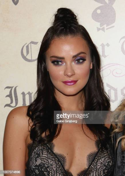 Playboy Playmate Alexandra Tyler arrives at Playboy's Midsummer Night's Dream at the Marquee Nightclub at The Cosmopolitan of Las Vegas on July 29...