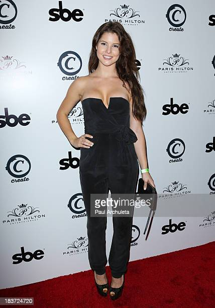 Playboy Playmate Amanda Cerny arrives for the release party for Paris Hilton's new single Good Time featuring Lil Wayne at on October 8 2013 in...
