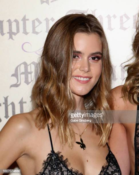 Playboy Playmate Amberleigh West arrives at Playboy's Midsummer Night's Dream at the Marquee Nightclub at The Cosmopolitan of Las Vegas on July 29...