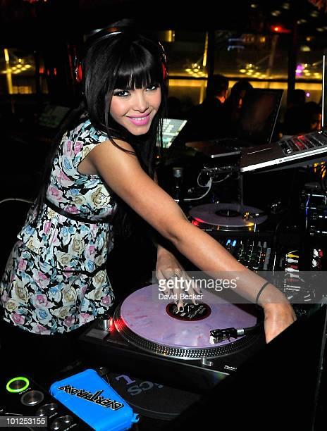 Playboy Playmate and DJ, Tamara Sky during the Bunny Bash at the Eve nightclub at Crystals at CityCenter early May 29, 2010 in Las Vegas, Nevada.