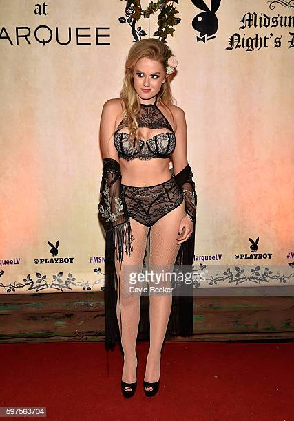 Playboy Playmate Anna Sophia Berglund attends the Playboy Midsummer Night's Dream party at the Marquee Nightclub at The Cosmopolitan of Las Vegas on...