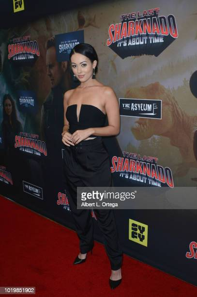 Playboy Playmate Ashley Doris arrives for the Premiere Of The Asylum And Syfy's 'The Last Sharknado It's About Time' held at Cinemark Playa Vista on...