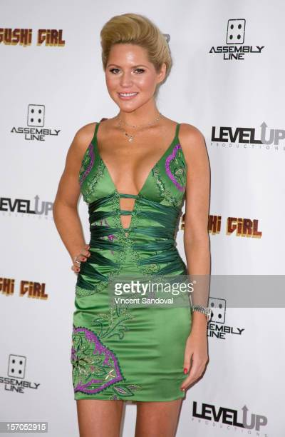 "Playboy Playmate Ashley Mattingly attends the Los Angeles Premiere of ""Sushi Girl"" at Grauman's Chinese Theatre on November 27, 2012 in Hollywood,..."