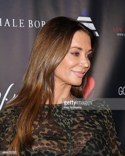 """Playboy Playmate Ava Fabian attends Victoria Fuller's """"The Beauty Code: Art Show"""" at The Redbury Hotel on February 25, 2015 in Hollywood, California."""