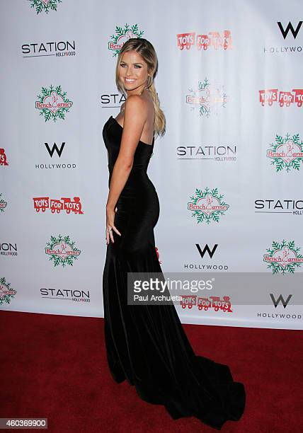 Playboy Playmate Carly Lauren attends the BenchWarmer 10th annual Winter Wonderland Toys For Tots Christmas Celebration at Station Hollywood at W...