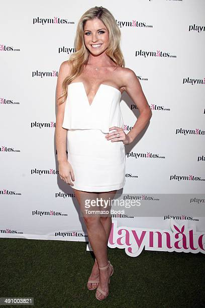 Playboy Playmate Carly Lauren attends the Playboy's 2014 Playmate Of The Year announcement luncheon held at The Playboy Mansion on May 15 2014 in...