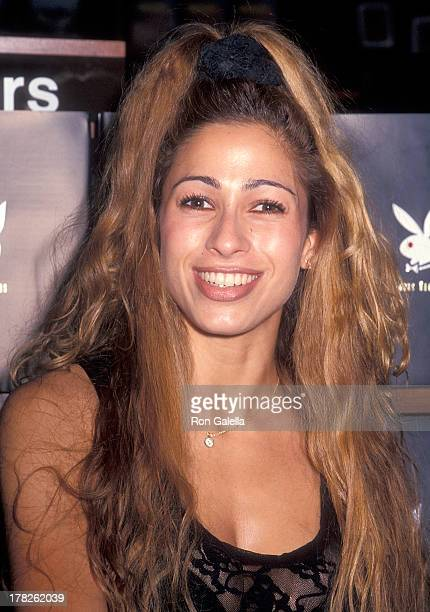 Playboy playmate Carol Shaya attends an autograph session for the new book The Playboy Book Forty Years on July 14 1994 at the Winter Garden...