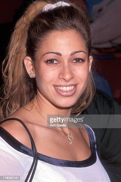 Playboy playmate Carol Shaya attends the Playboy Magazine Party on December 8 1994 at Rouge Club in New York City