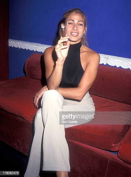 Playboy playmate Carol Shaya attends the Screening of the MadeForTelevision Movie The Art of the Cigar on June 12 1996 at the Supper Club in New York...