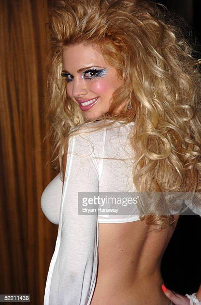 Playboy Playmate Destiny Davis goes to the Pamela Anderson Bitch party and fashion show at The Palms resort casino in on Feburary 16 2005 in Las...
