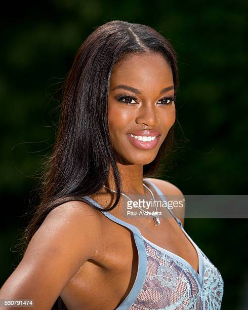 Playboy Playmate Eugenia Washington is revealed as the 2016 Playmate Of The Year at The Playboy Mansion on May 11 2016 in Holmby Hills California