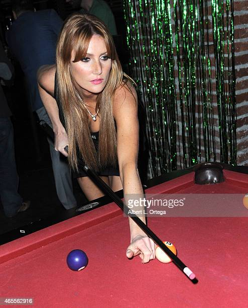 Playboy Playmate Gia Marie at the Muck After Party held at Smithhouse Tap Grill on February 26 2015 in Los Angeles California