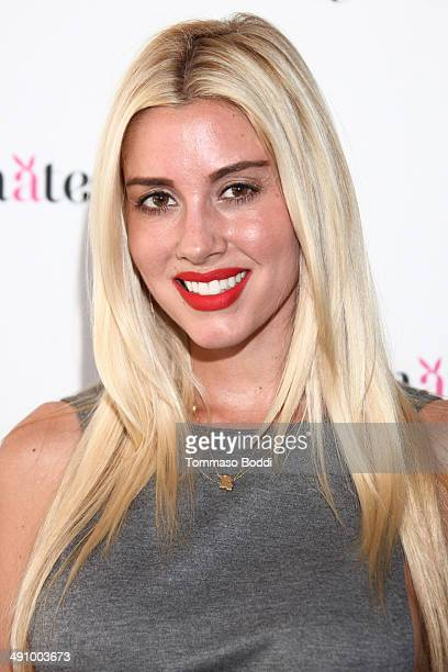 Playboy Playmate Heather Rae attends the Playboy's 2014 Playmate Of The Year announcement luncheon held at The Playboy Mansion on May 15 2014 in...