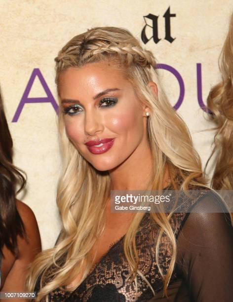 Playboy Playmate Heather Rae Young arrives at Playboy's Midsummer Night's Dream at the Marquee Nightclub at The Cosmopolitan of Las Vegas on July 29...