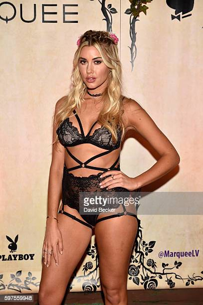 Playboy Playmate Heather Rae Young attends the Playboy Midsummer Night's Dream party at the Marquee Nightclub at The Cosmopolitan of Las Vegas on...