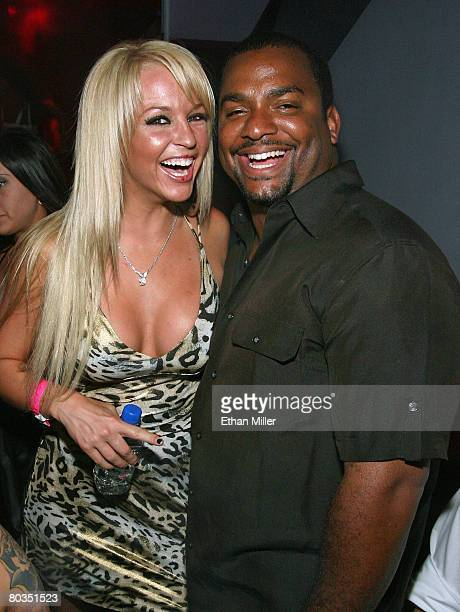 Playboy Playmate Heather Rene Smith and actor Alfonso Ribeiro attend IRL driver Marco Andretti's 21st birthday party at the Moon nightclub at the...
