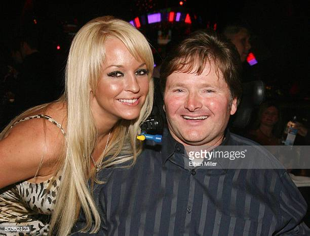 Playboy Playmate Heather Rene Smith and Sam Schmidt Motorsports owner Sam Schmidt attend IRL driver Marco Andretti's 21st birthday party at the...