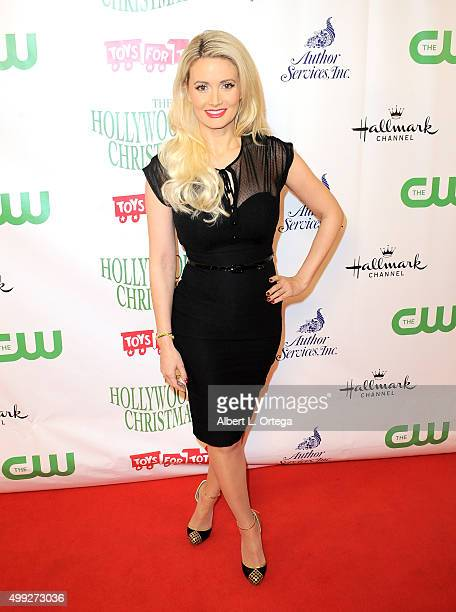 Playboy Playmate Holly Madison arrives for the 84th Annual Hollywood Christmas Parade held at The Roosevelt Hotel on November 29 2015 in Hollywood...