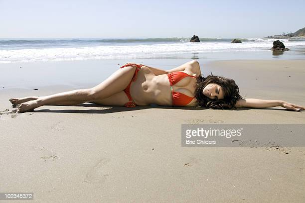 Playboy playmate Hope Dworaczyk poses at a portrait session for Self Assignment in Hollywood CA on May 10 2010