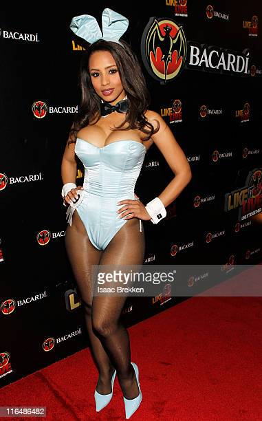Playboy Playmate Ida Ljungqvist arrives at the BACARDI 'Like It Live' Las Vegas event with CeeLo Green Travis Barker and Mix Master Mike held at the...