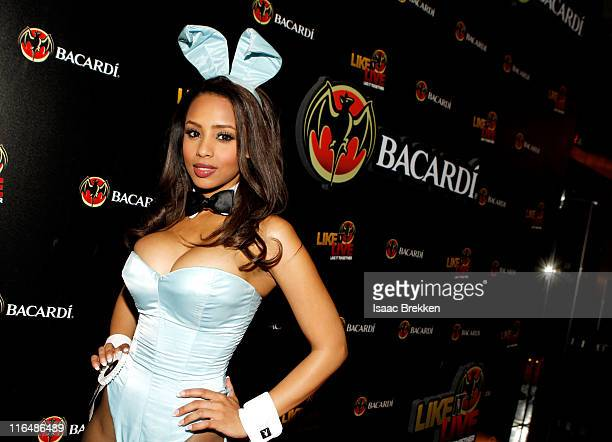Playboy Playmate Ida Ljungqvist arrives at the BACARDI Like It Live Las Vegas event with CeeLo Green Travis Barker and Mix Master Mike held at the...