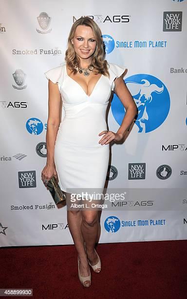 Playboy Playmate Irina Voronina arrives for the Single Mom Planet Jazz Celebration held at HOME on November 12 2014 in Beverly Hills California