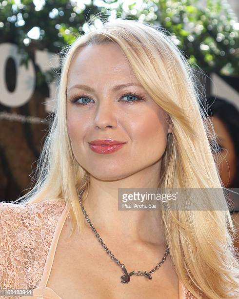 Playboy Playmate Irina Voronina attends the 2013 Playmate Of The Year announcement at The Playboy Mansion on May 9 2013 in Beverly Hills California