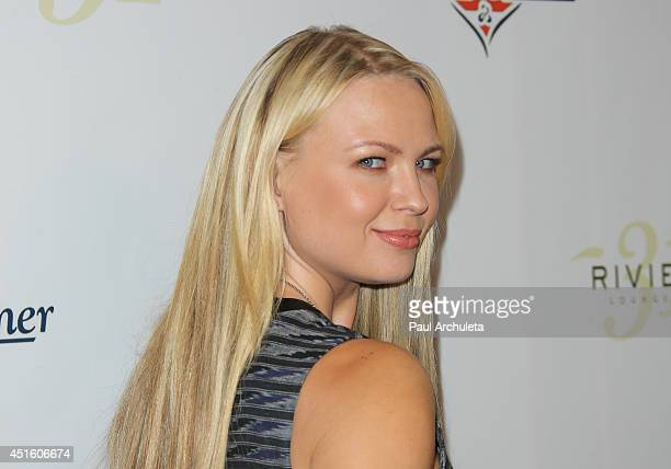Playboy Playmate Irina Voronina attends the annual Stars Stripes charity event hosted by Children Of The Night and BenchWarmer's on July 1 2014 in...