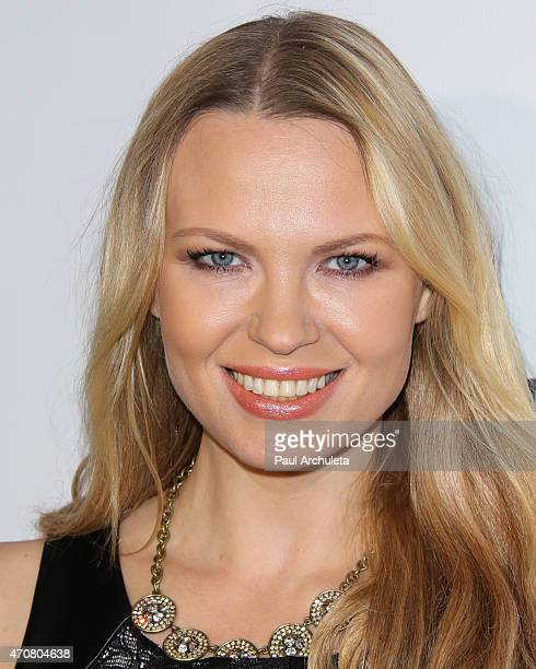 Playboy Playmate Irina Voronina attends the Babes In Toyland charity toy drive at Boulevard3 on April 22 2015 in Hollywood California